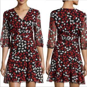 Diane Von Furstenberg Fleurette Floral Silk Dress